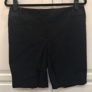 "LOFT - 10"" Inseams Cotton Black Julie Shorts"